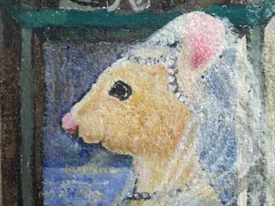 Medieval Mouse in a veil