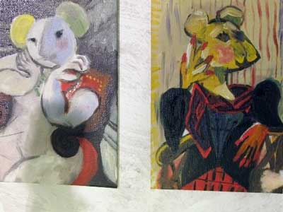 Paintings by the mouse Picasso